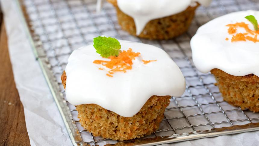 Muffins de zanahorias y glaseados