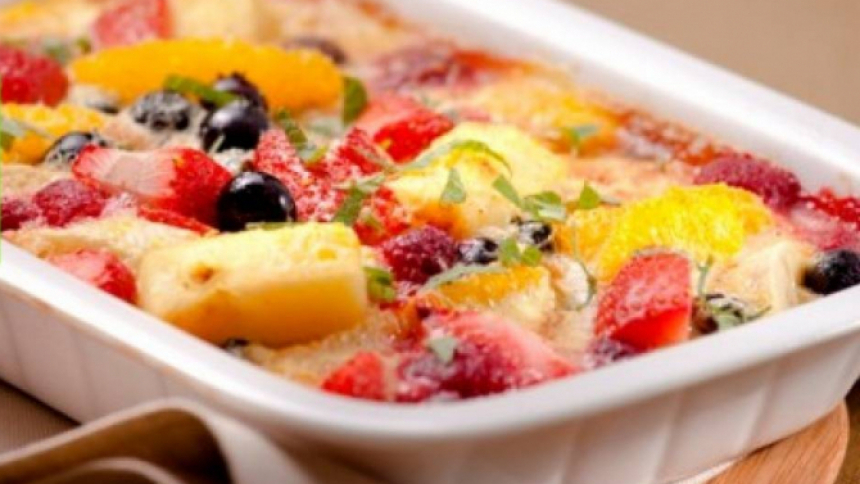 Frutas gratinadas