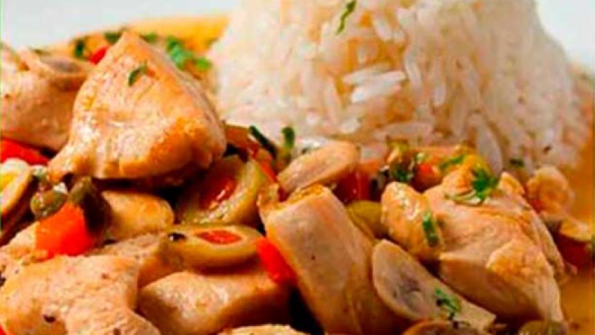 Guiso de pollo a las olivas