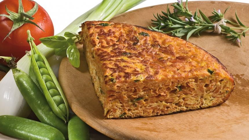 Tortilla de zanahoria a las hierbas