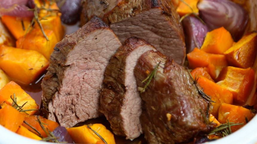 carne horno verduras