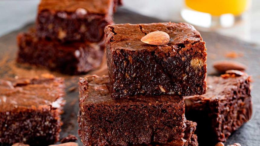 Brownie de chocolate sin harina