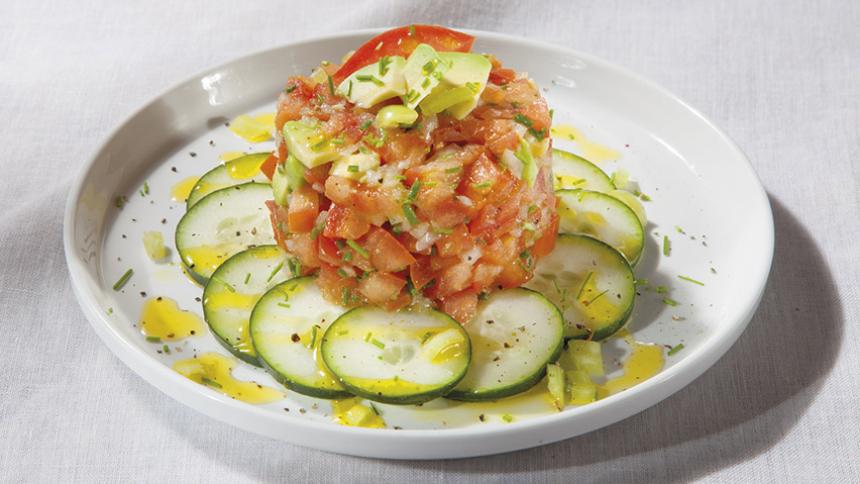 Tártaro de tomate con ají