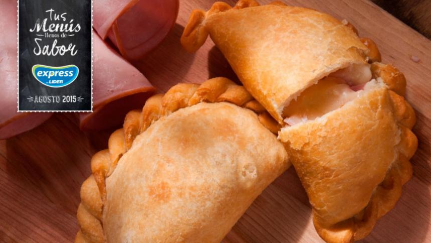 Empanaditas fritas de queso y jamón
