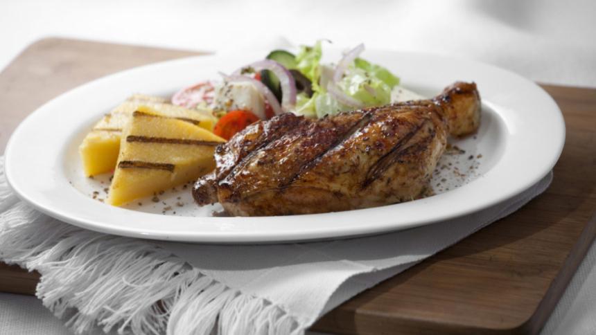 Pollo a la griega a la parrilla