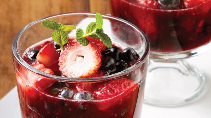 Jalea de frutos rojos