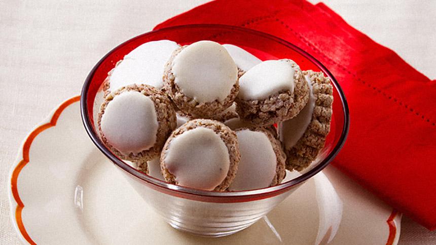 Galletas de avena con almendras con glaseado de azucar