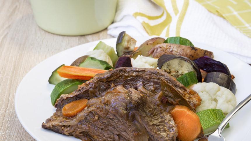 Plateada con verduras asadas