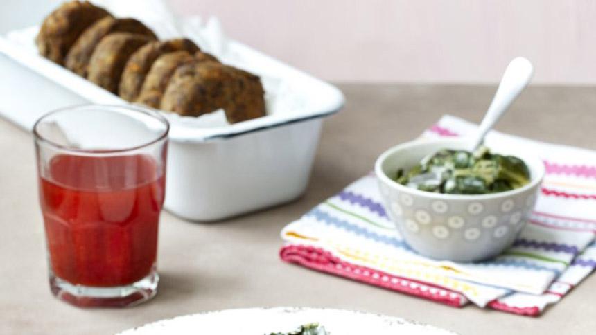 Croquetas de jurel y zanahoria con acelga a la crema