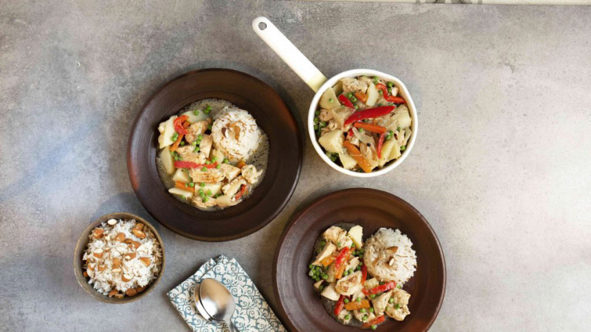 Estofado de pollo con arroz árabe