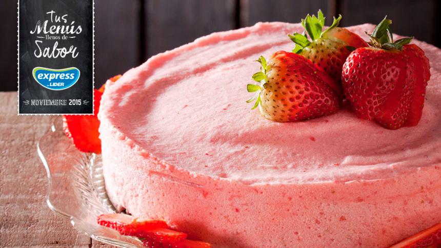 Tarta mousse de yogurt con frutillas