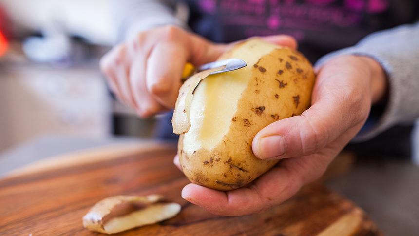 Chips de cáscara de papas